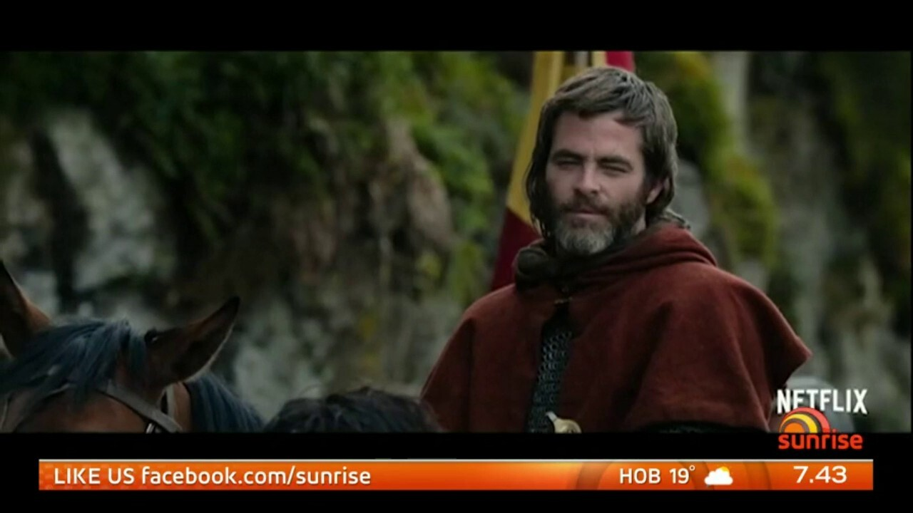 The Hollywood star told Sunrise he was embarrassed by the attention of him going 'full frontal' in a new film 'Outlaw King'