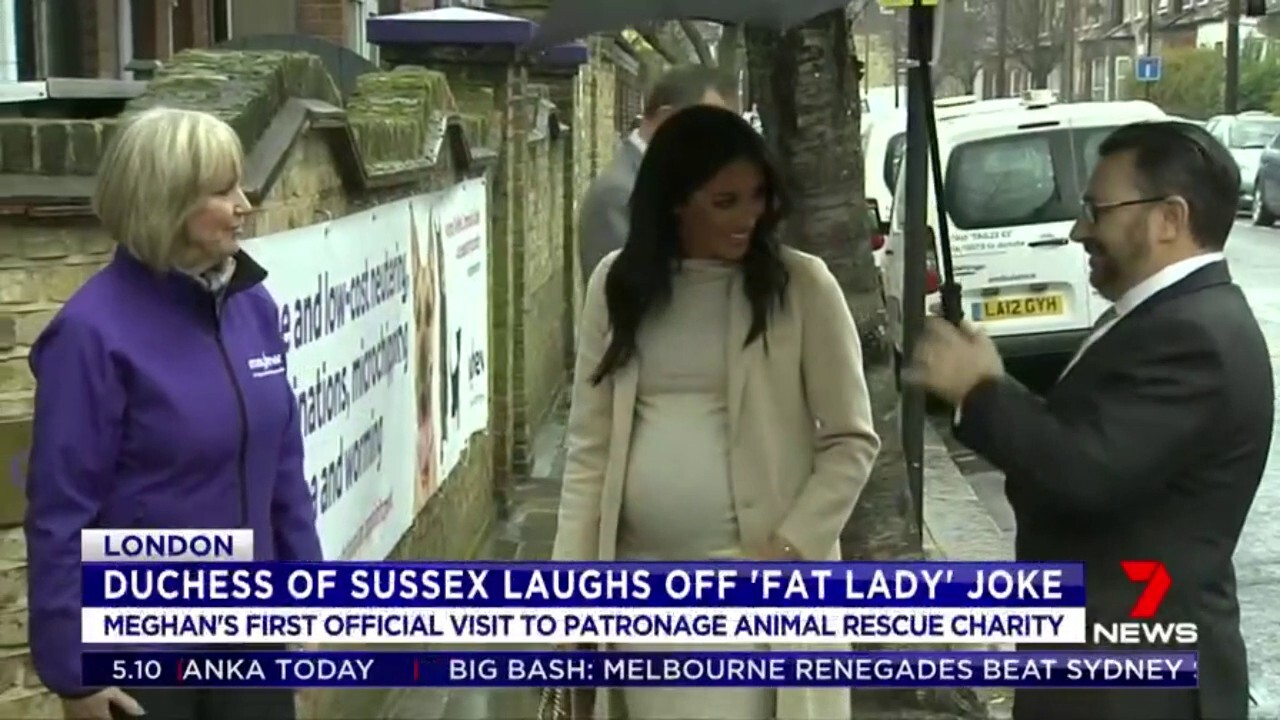 A volunteer called the Duchess of Sussex a 'fat lady' during a visit to an animal rescue charity