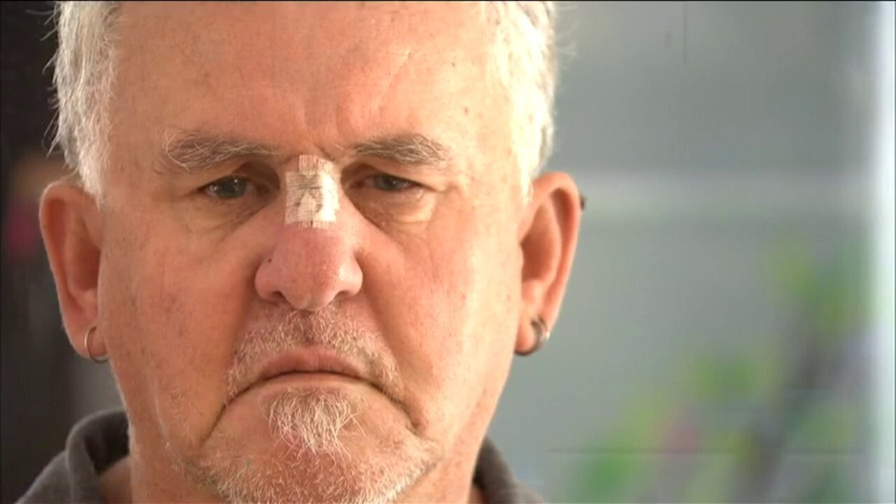 The Perth grandfather bashed for doing a good deed.