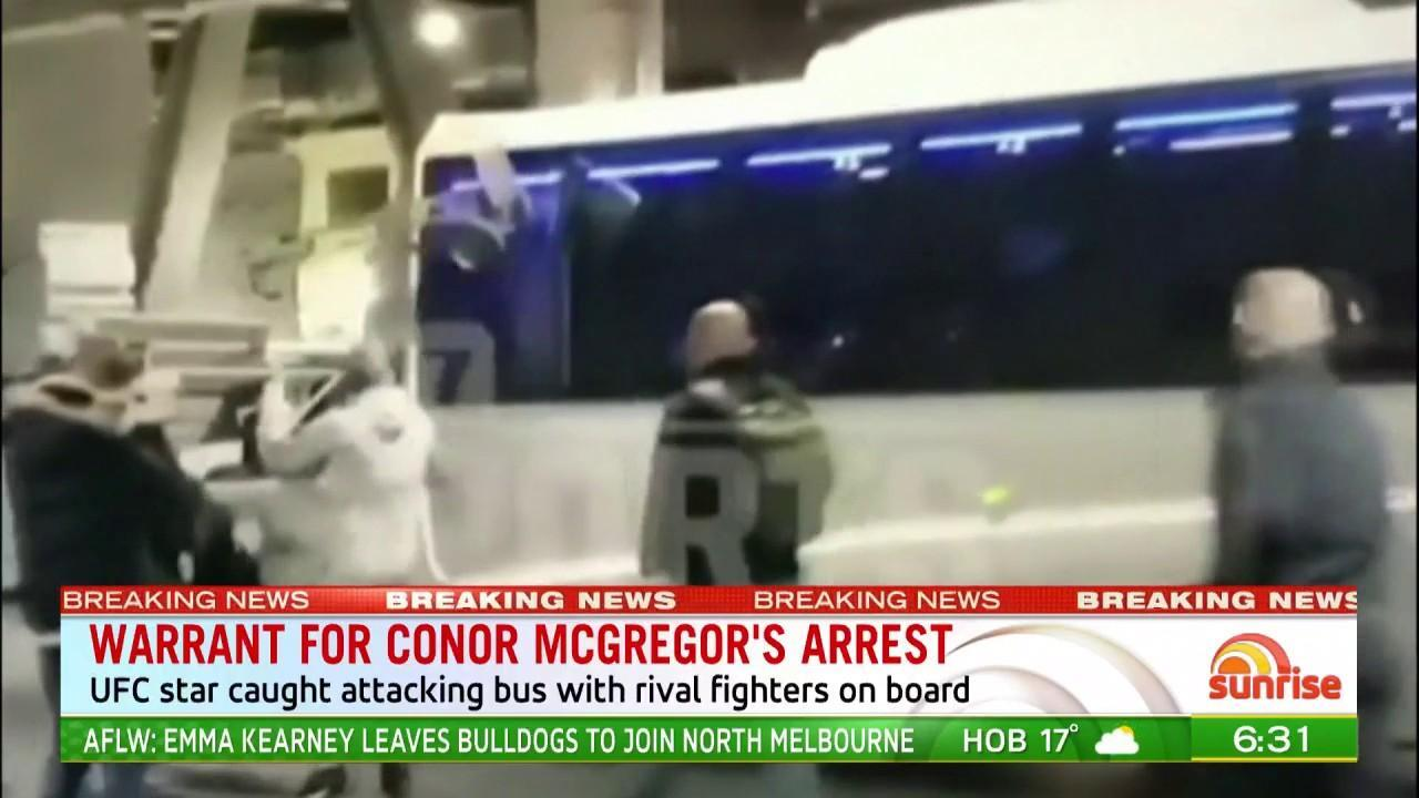 The UFC fighter was caught on camera attacking a bus with rival fighters on board