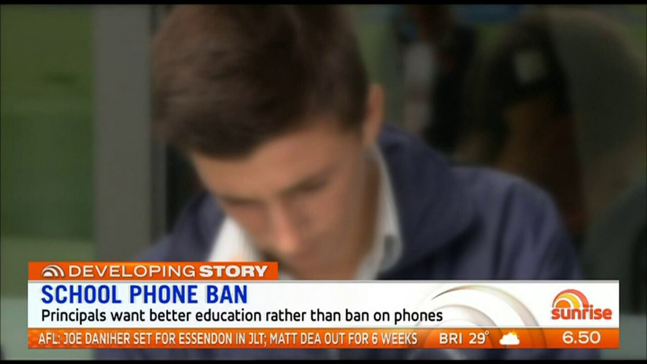 Principals want better education rather than a ban on phones.