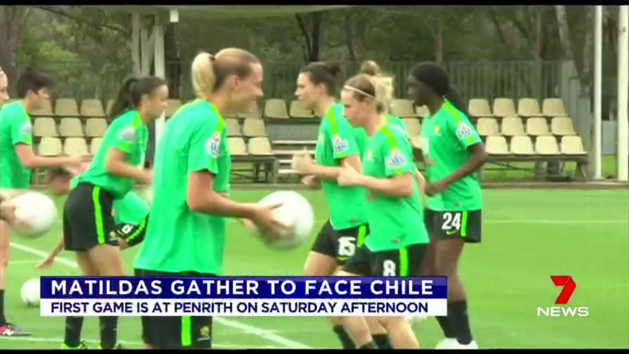 The Matildas first game is at Penrith in Sydney, on Saturday afternoon.