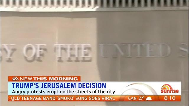 The United States has recognised Israel as Jerusalem's capital.