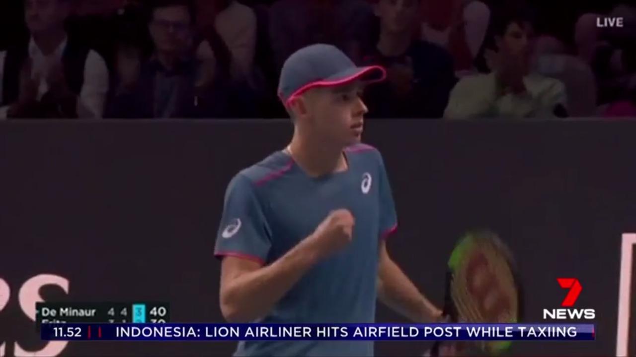 Aussie young gun Alex De Minaur will crack his first $1 million in prize money from the ATP Next Gen Finals event