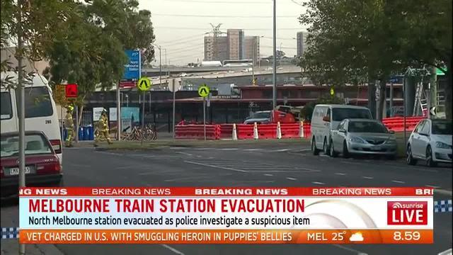 North Melbourne train station shut down due to suspicious