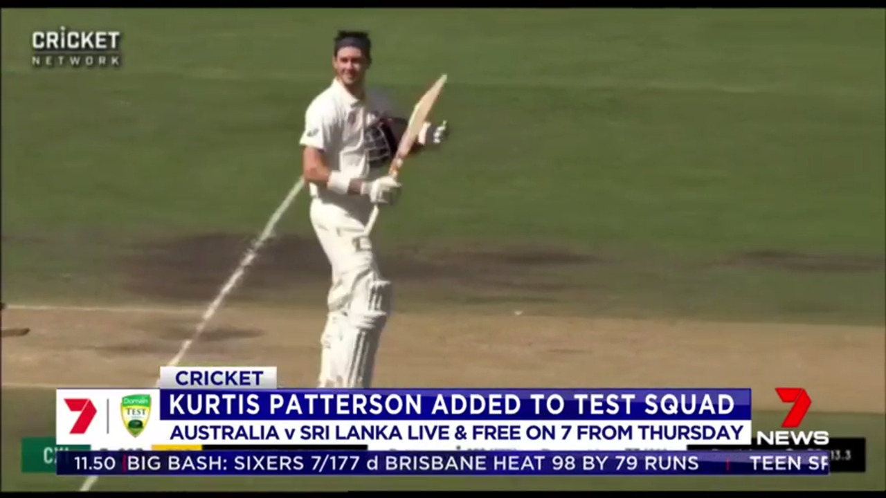 Kurtis Patterson has been added to Australia's squad for Thursday's pink ball series