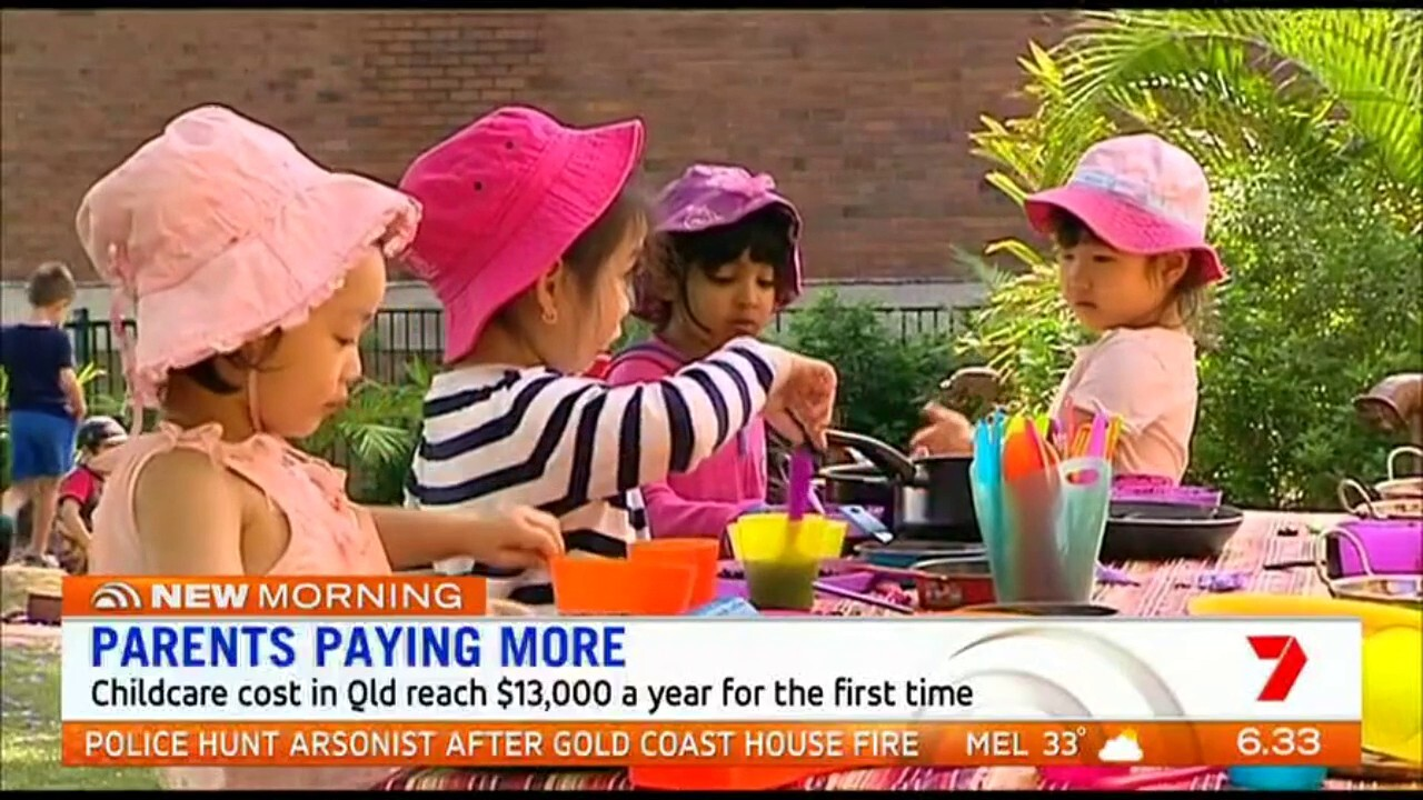 New data shows childcare costs have skyrocketed, with average fees for long day-care rising by $300 over 12 months.