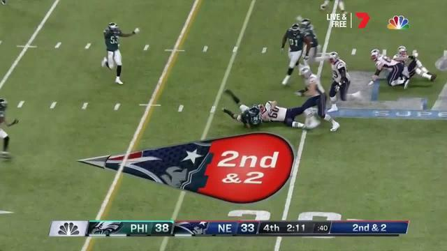 Patriots get their only turnover of the match