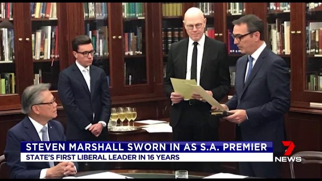 Steven Marshall won Saturday's state election promising to cut taxes and improve health care.