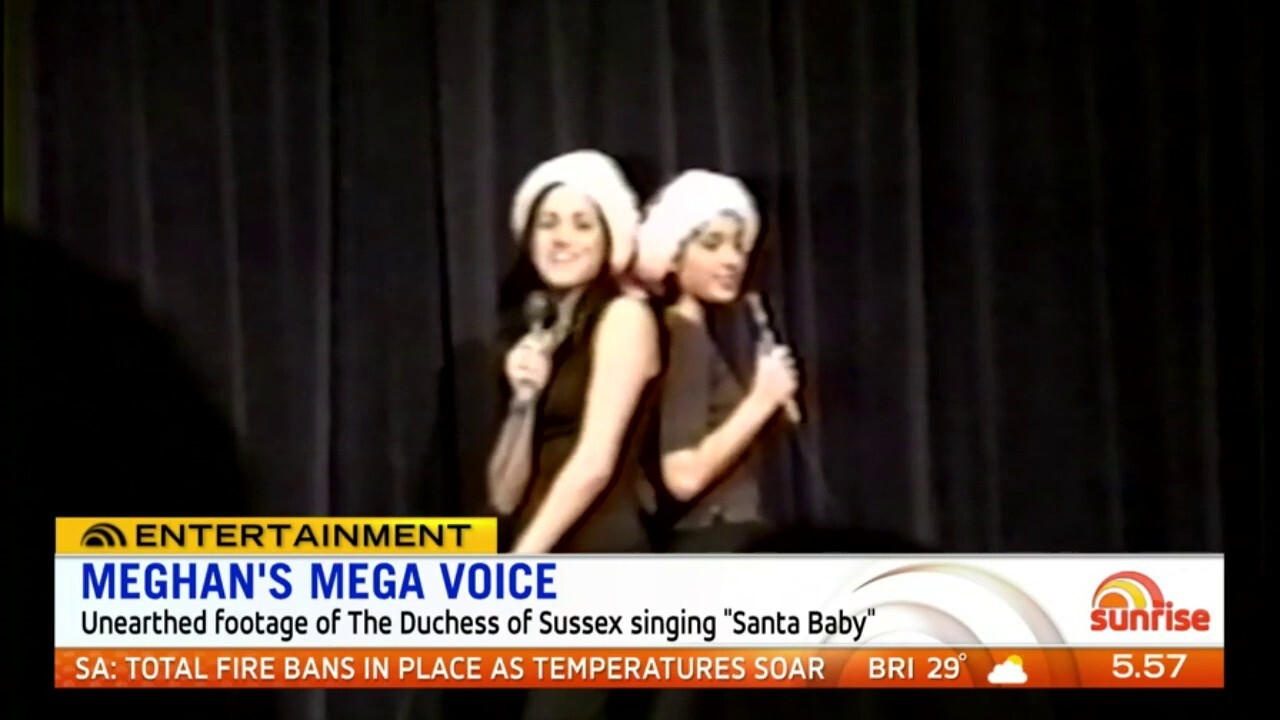 Rare footage has surfaced of Meghan singing 'Santa Baby' in her final year of high school
