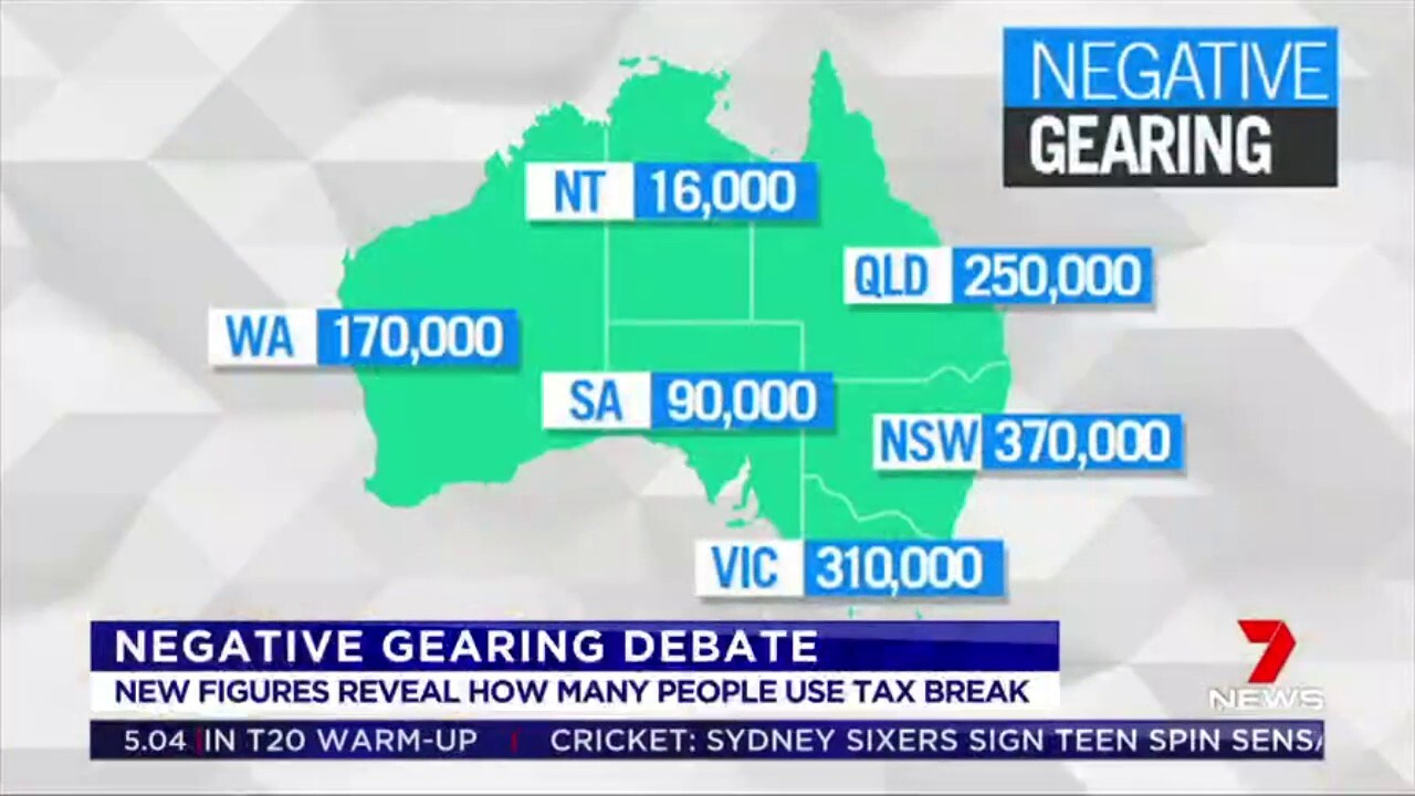 New figures have revealed some of the highest concentrations of people who negatively gear investment properties are in Labor-held electorates