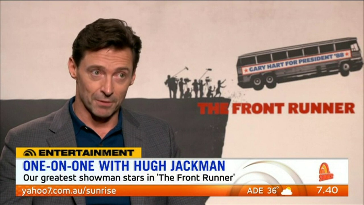 Hugh Jackman speaks to Sunrise about his new movie 'The Front Runner'