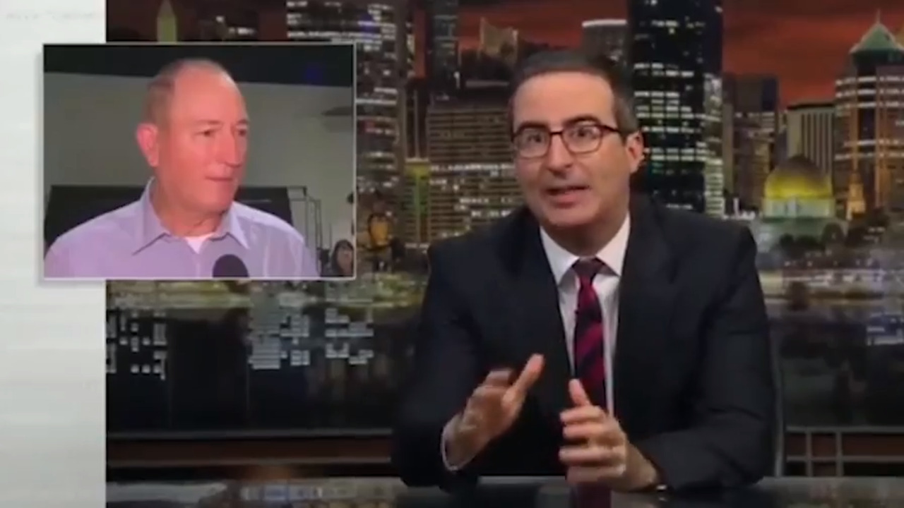 TV host John Oliver has defended Egg Boys actions and slammed Senator Fraser Anning following the Christchurch attacks.