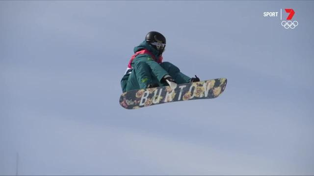 The Australian narrowly missed out on a position in the snowboard big air final at the Winter Olympics.