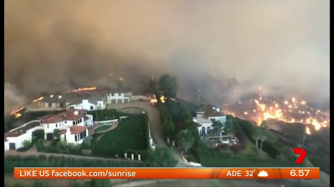 Lady Gaga, Kim Kardashian, Ellen De Generes were among the celebs forced to evacuate their homes as the blazes approached