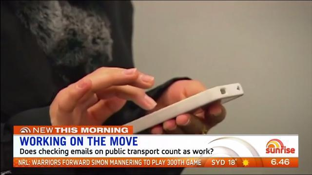 Does checking emails on public transport count as work time? Sunrise discuss