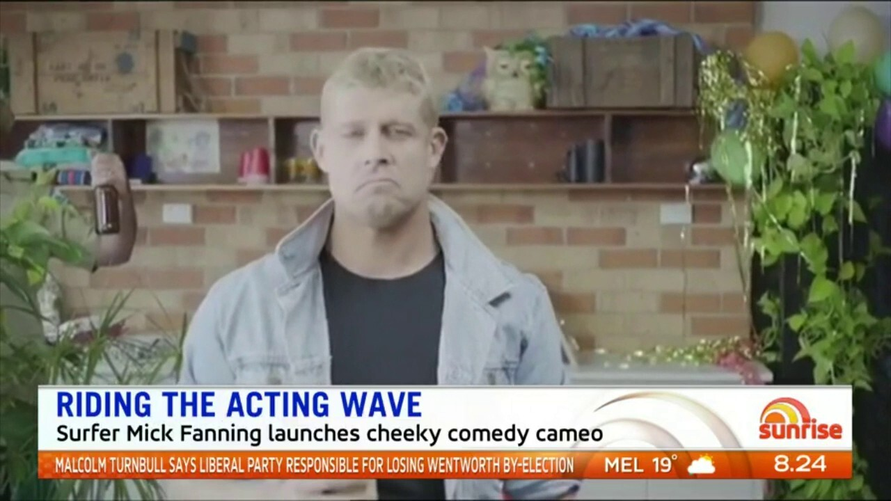 Surfer Mick Fanning has starred in a cheeky comedy cameo