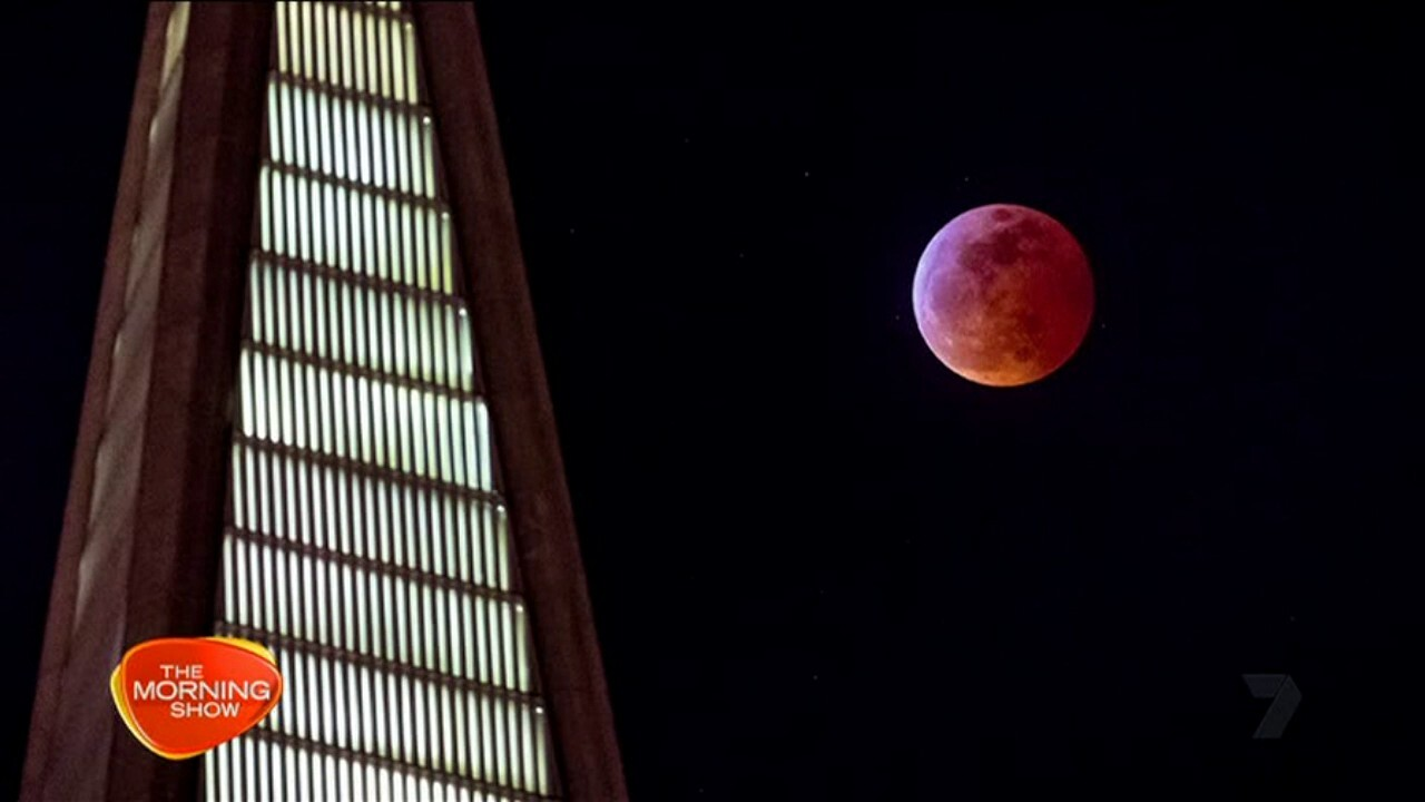 Thousands watched the 'Super Blood Wolf Moon' from the Northern Hemisphere.