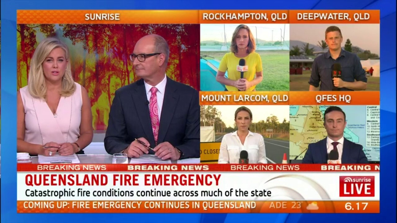 A fire emergency is continuing to burn out of control in Queensland.