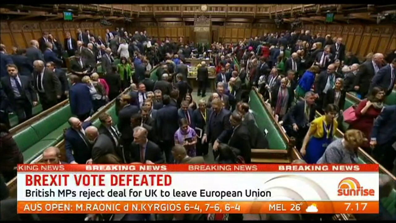Sunrise Foreign Editor Keith Suter talks about what the Brexit defeat means for the UK and Australia