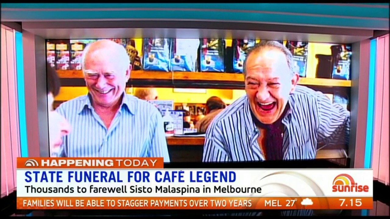 Melbourne is in mourning ahead of a state funeral for murdered identity Sisto Malaspina.
