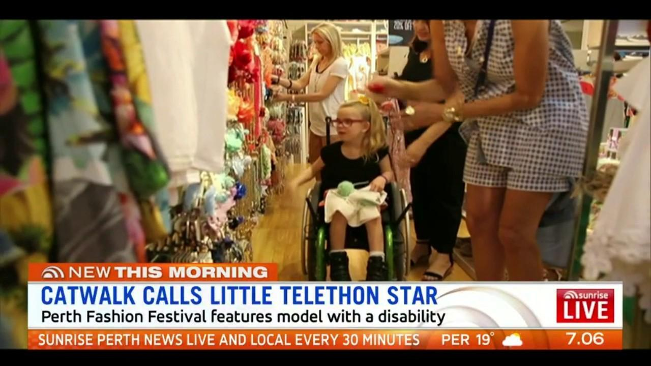 11-year-old Emily Prior will storm the runway at the Perth Fashion Festival on Friday, the first time a model with a disability will feature on the catwalk in the festival's 20-year history