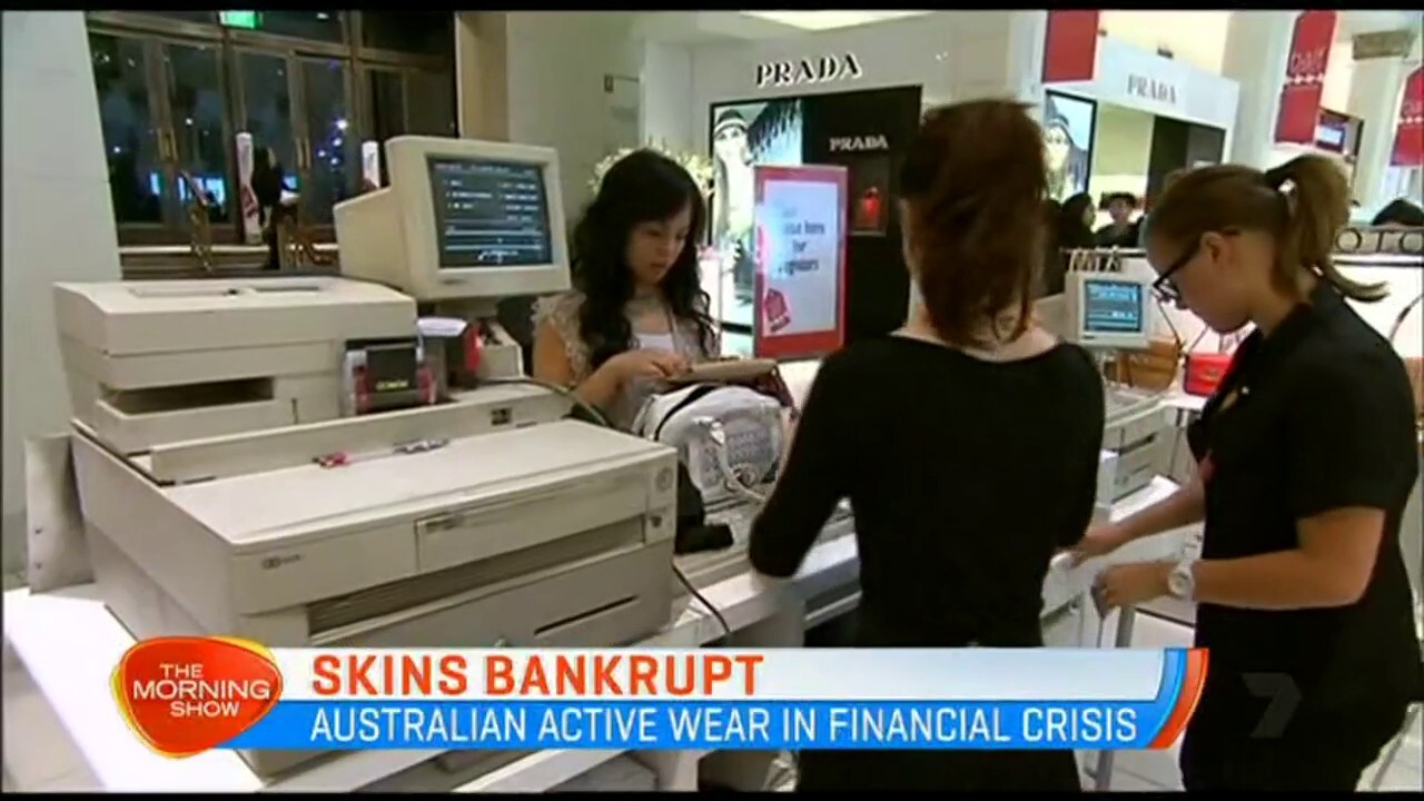 The Australian fashion manufacturer has applied for bankruptcy in a Swiss court.