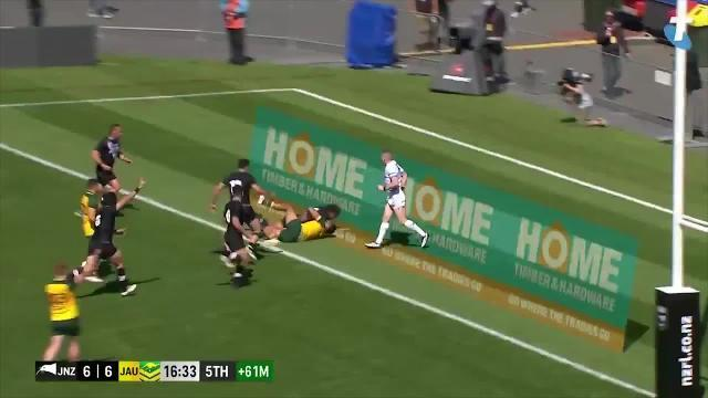 WATCH: The Junior Roos defeated the Junior Kiwis 40-24, but this scorpion-kick from Chanel Harris-Tavita was the highlight of the match.