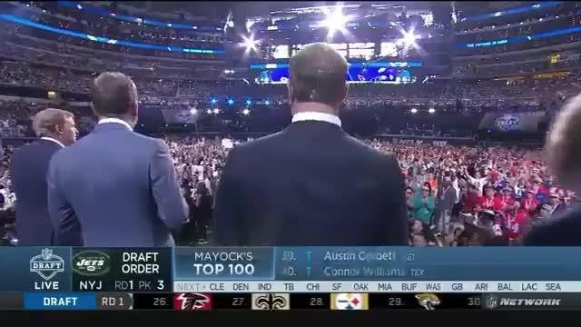 NFL commissioner Roger Goodell hears the boos from fans at the league's draft in Dallas, Texas. Video: Twitter / Fearthe_Beard11