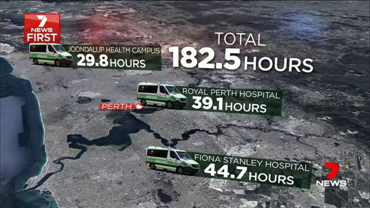 159 patients were stuck in ambulances for more than an hour before being taken into emergency departments.