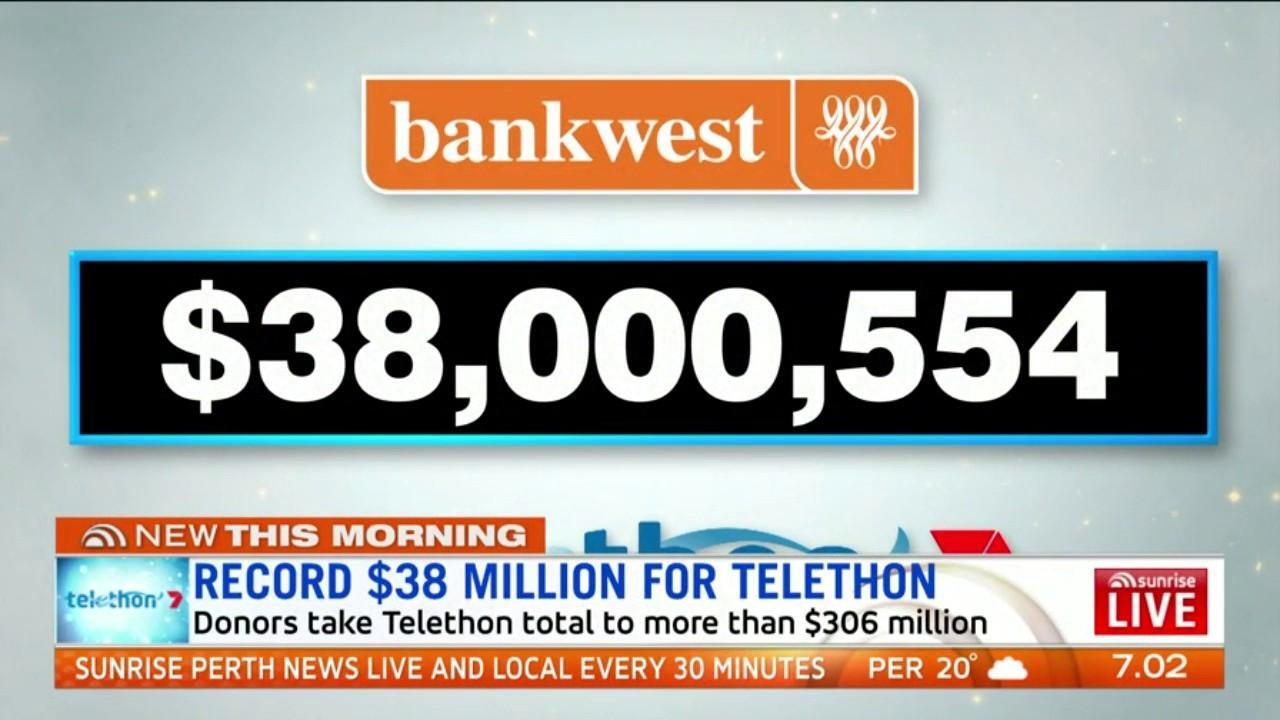 Telethon has raised a record $38 million thanks to donations by generous West Aussies