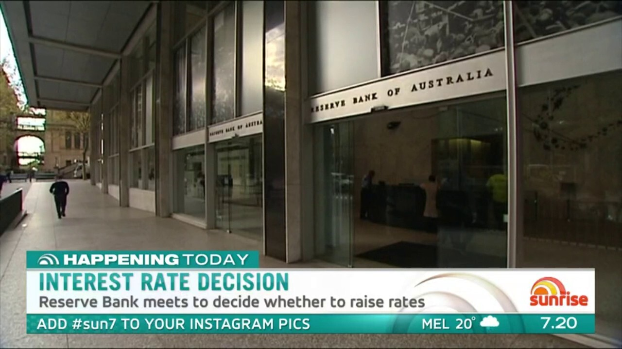 The Reserve Bank of Australia will meet to decide on interest rates today.
