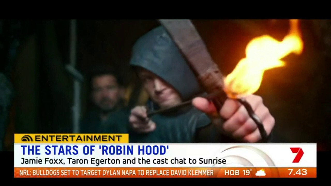 Sunrise chats to Taron Edgerton and Jamie Foxx about the new Robin Hood film