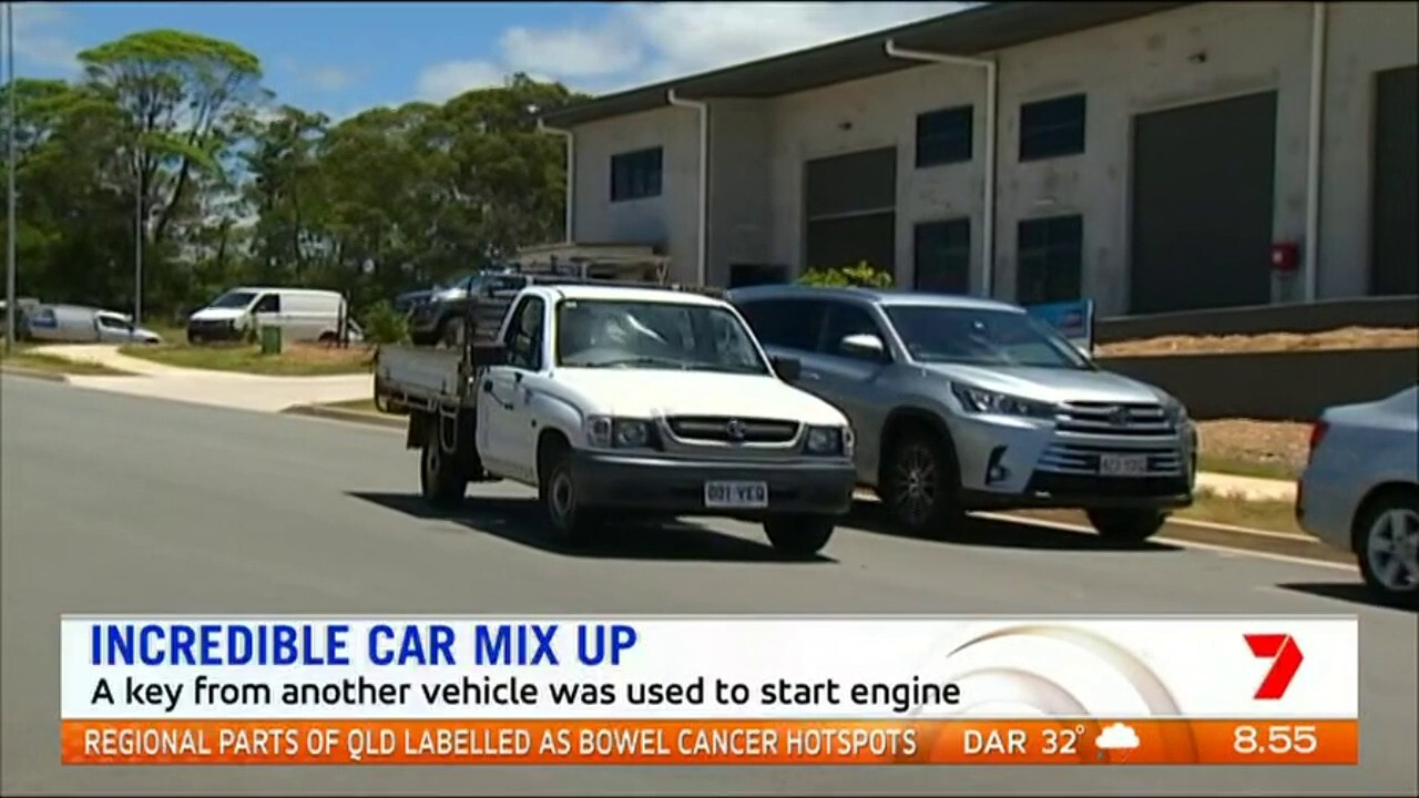 A Queensland man had his car accidentally taken after a mechanic picked up his ute using a key from another car