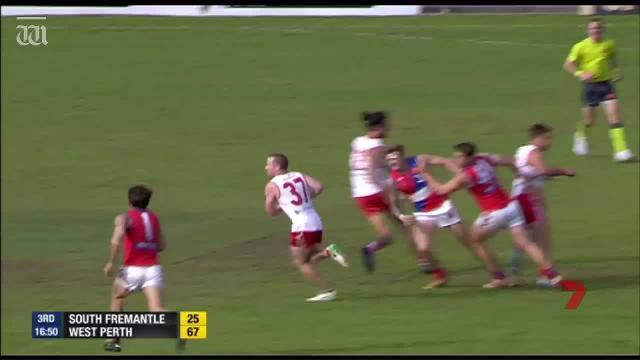 See all the action as West Perth stunned South Fremantle to claim a WAFL grand final berth against Subiaco.