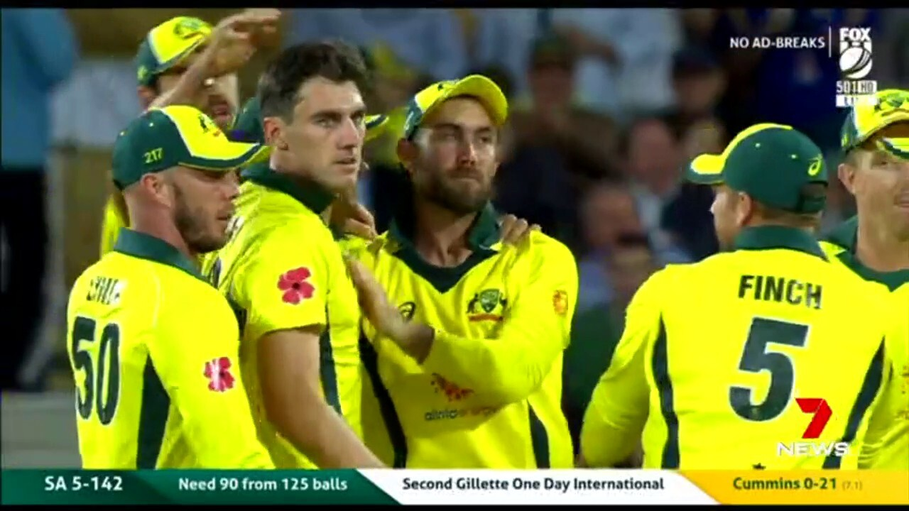The Australian cricket team is fighting hard against South Africa, needing to win to keep the series alive.