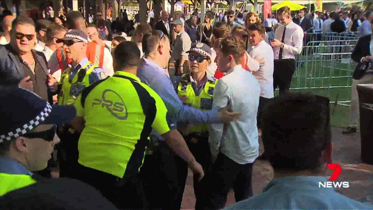 Not all punters were merry yesterday for the Melbourne Cup, a brawl broke out at Ascot