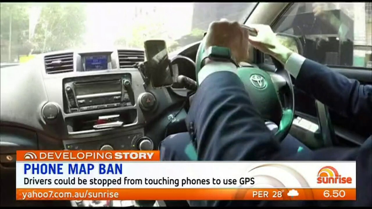 Drivers could be stopped from touching their phones to use GPS.