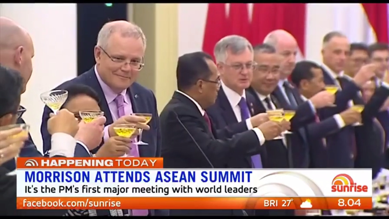 Scott Morrison will meet with the Indonesian President at the ASEAN Summit, his first major meeting with world leaders