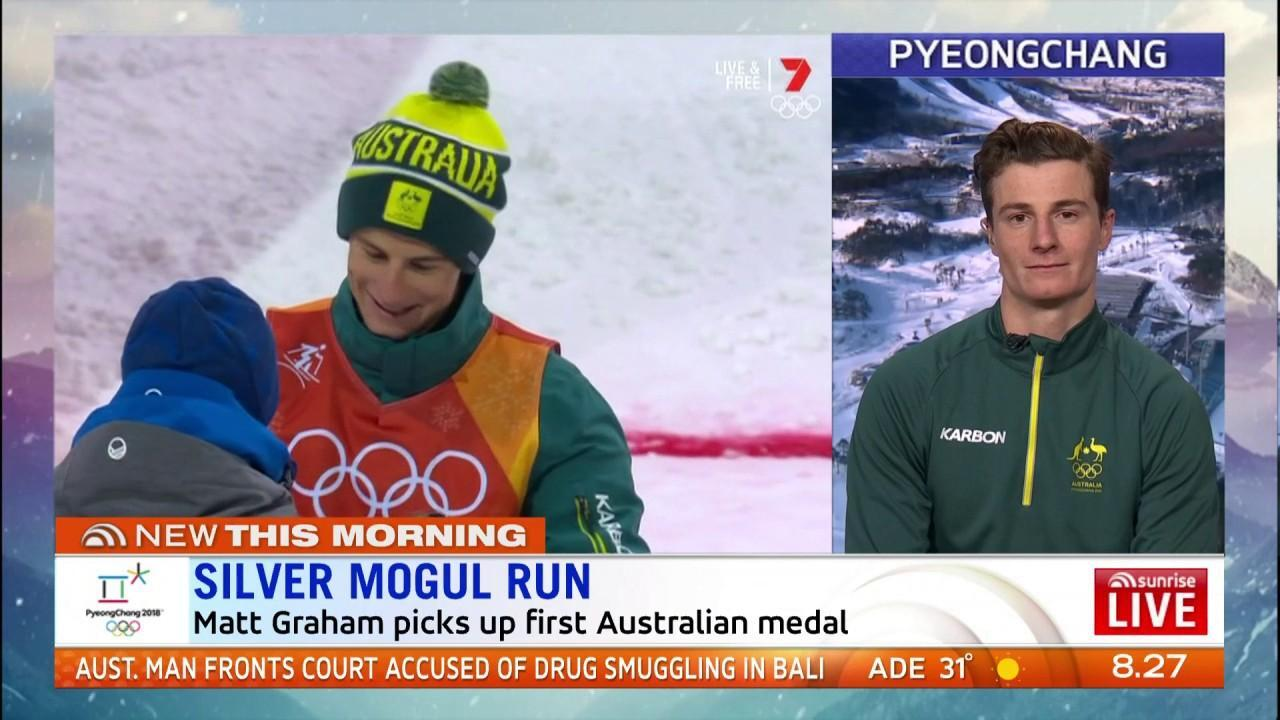 The Aussie picked up our first medal at the Pyeongchang Winter Olympics.