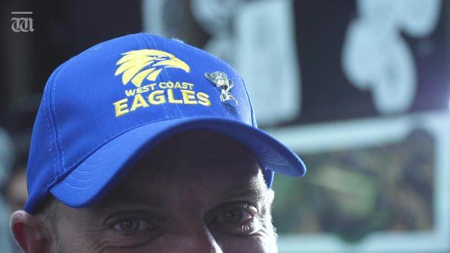Maka had to pay for Jai's Eagles tattoo after his beloved Collingwood lost in the Grand Final.