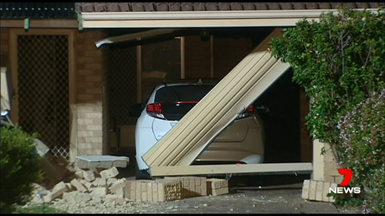 The car crashed through the wall of a Palmyra home; the driver was just 15 years old.