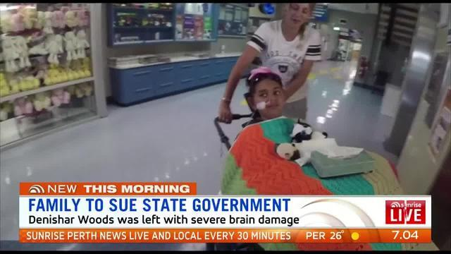 The family of a young girl who suffered catastrophic brain injuries at a state-owned house while turning off a tap will sue the WA Government.
