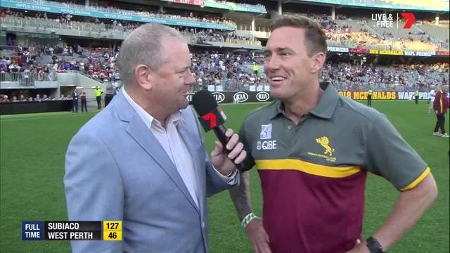 The Subiaco coach speaks after leading his team to an undefeated premiership.
