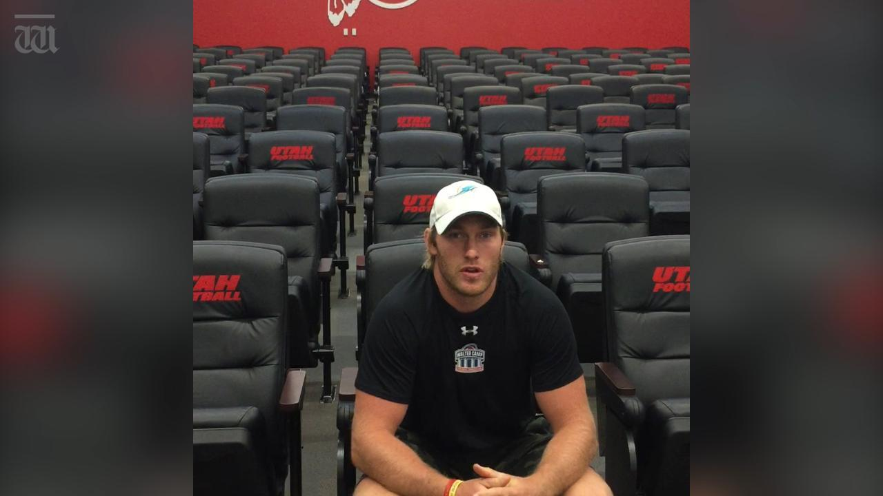 Perth's Mitch Wishnowsky plays for US college football team the Utah Utes. He gave us a tour of the impressive facilities students get to use to train to become the best.
