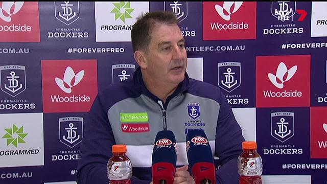 The Fremantle Dockers coach answers questions after his side's massive loss to the Cats.