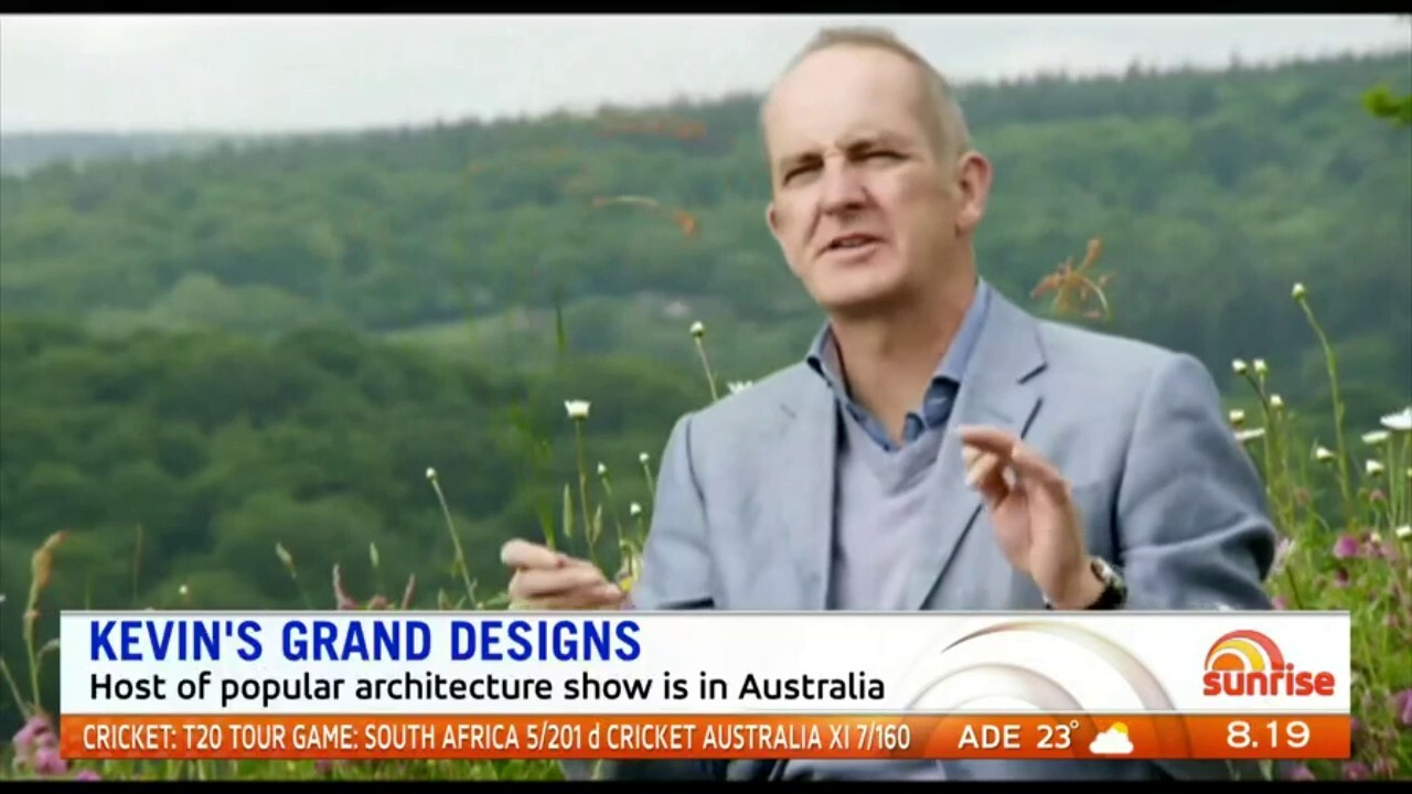 The host of popular architecture show Grand Designs, Kevin McCloud, is in Australia.