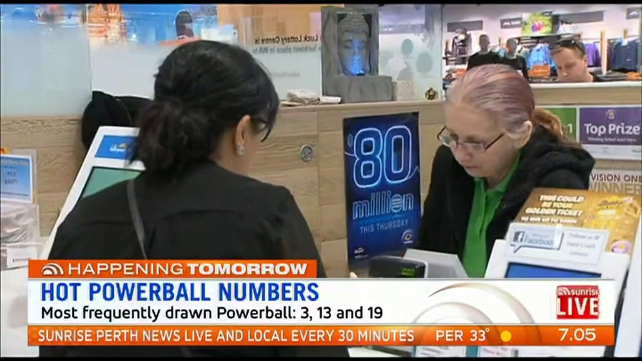 A staggering $80 million is up for grabs in Thursday night's Powerball draw