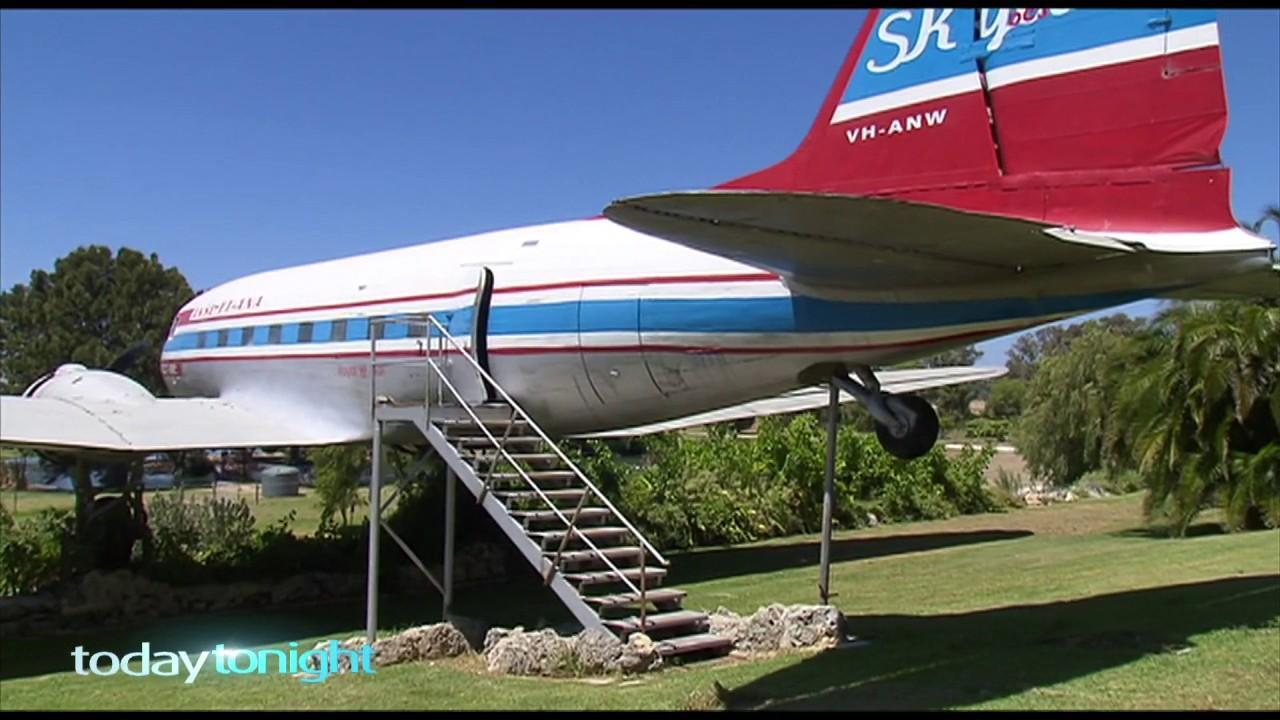 The DC3 was nicknamed 'the flying hamburger' after being stationed at a fast-food outlet.