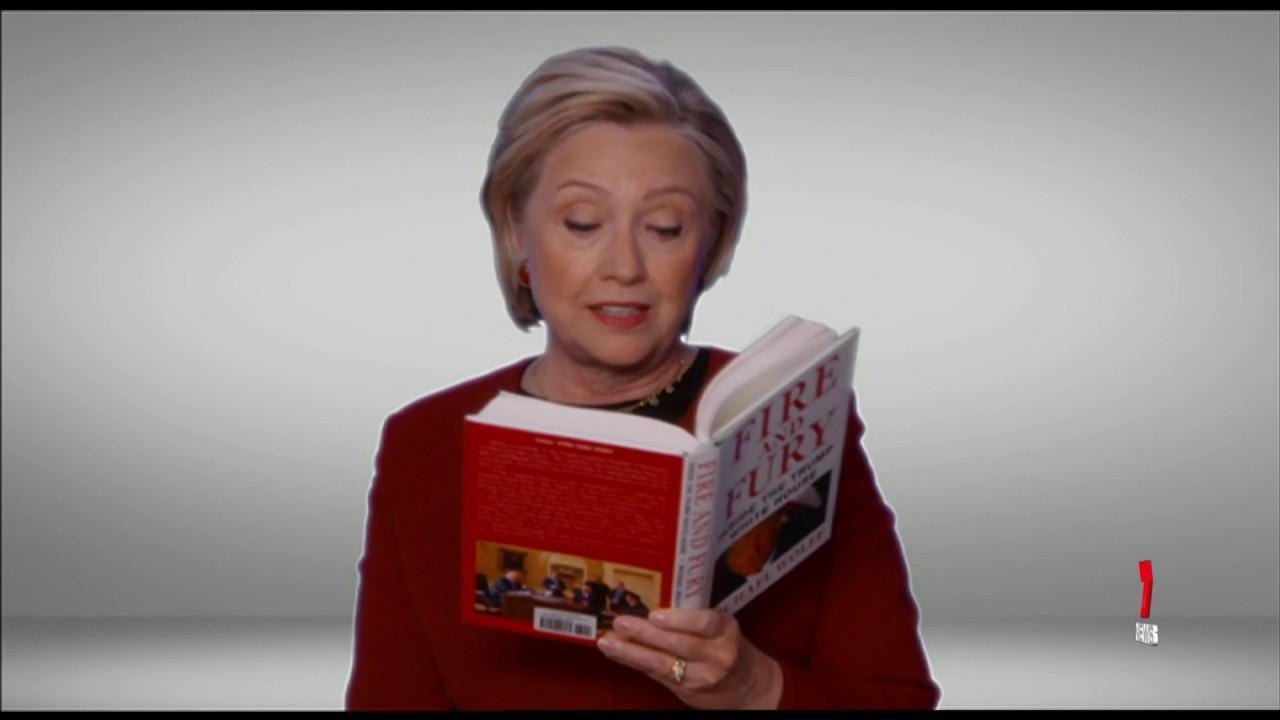 Musicians, along with Hillary Clinton made fun of Donald Trump reading Fire and Fury.